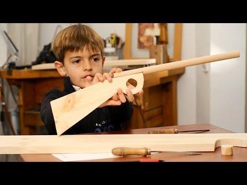 Juguetes de madera hacer una escopeta para ni os youtube for Crear una cubierta de madera