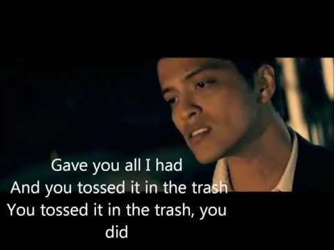Bruno Mars Grenade Lyrics. video