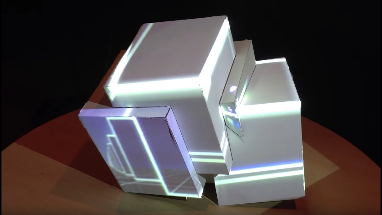 Projection Mapping Cubes Projection Mapping