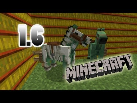 MineCraft 1.6 SnapShot Skeleton Armor. Zombie Horse Breeds. 13w21a!