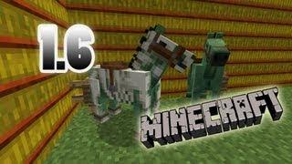 MineCraft 1.6 SnapShot Skeleton Armor, Zombie Horse Breeds, 13w21a!