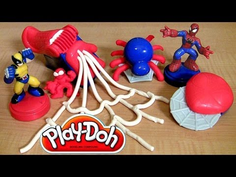 Play Doh Spiderman Super Tools Playset Marvel Super Hero Adventures Toy Review Spider-Man