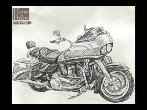 Street Bike Drawings How to Draw Bike