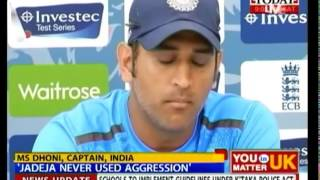 Dhoni defends Jadeja: He was not aggressive at all, he din