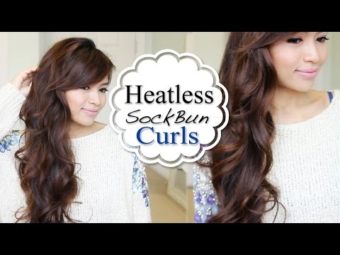 Overnight Heatless Curls Hair Tutorial (Sock Bun Method)