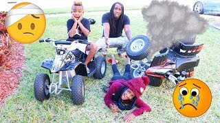 YAYA AND DJ FELL Off Their ATV Prank!!