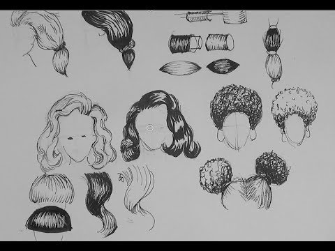 Afro hair drawings