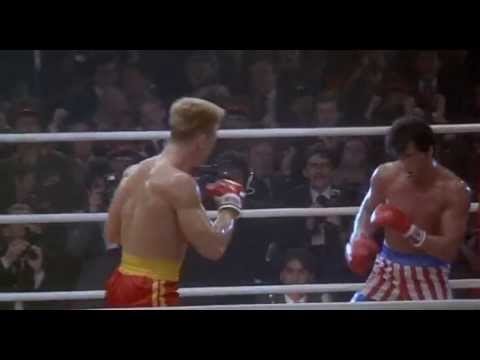 "Round two begins and Rocky tries to stay on his feet in this fight. He ""Russian cuts"" Drago, making it anyone's fight now. CAST: Brigitte Nielsen, Burt Young..."