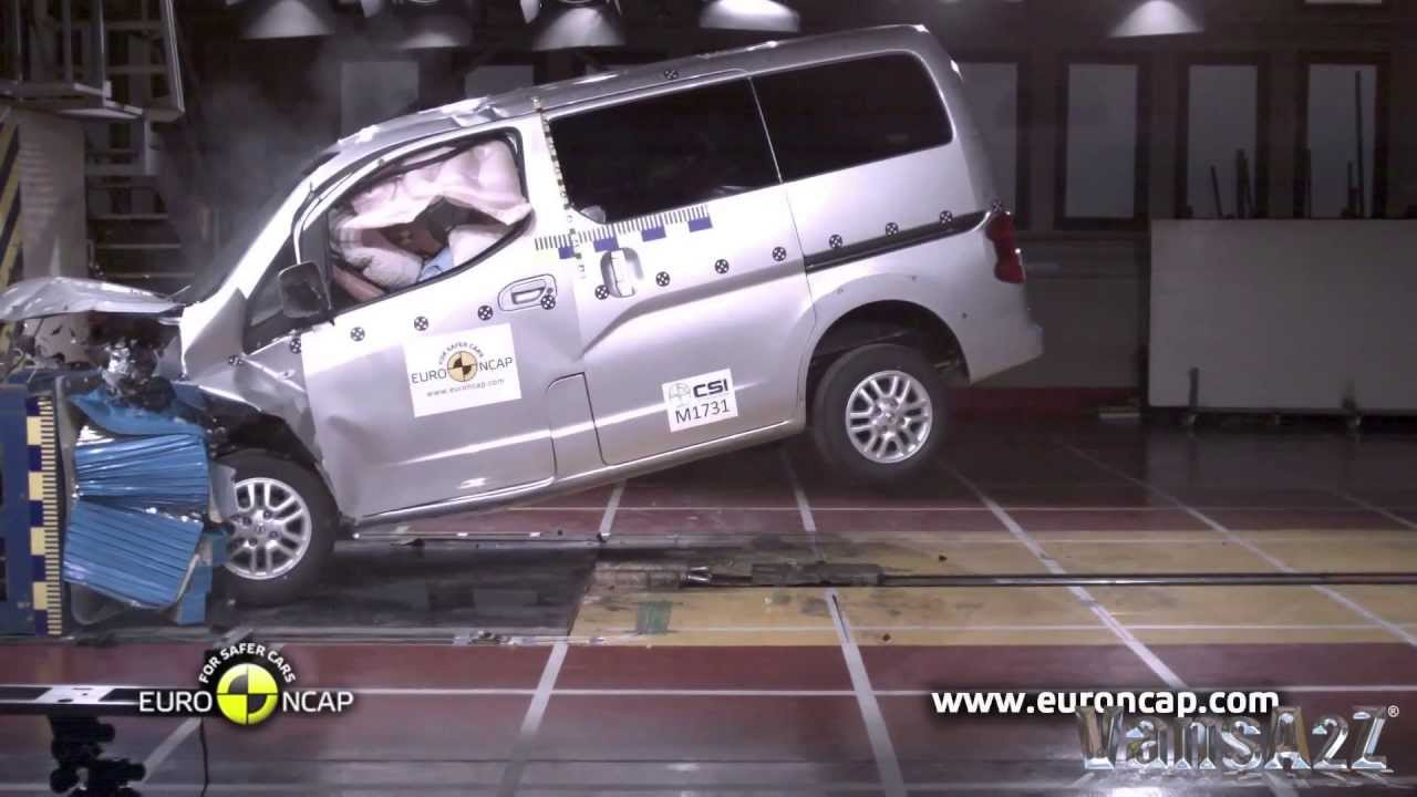 Nissan Nv200 Three Star Euro Ncap Safety Rating Youtube