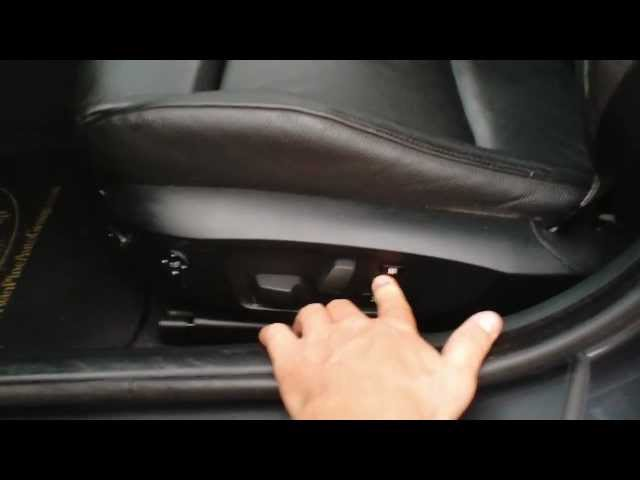 HOW TO USE MEMORY SEATS ON BMW - YouTube