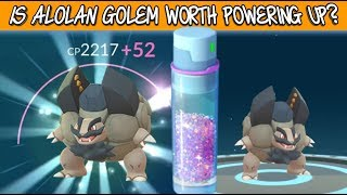 Is Alolan Golem Worth Powering Up In Pokemon Go?