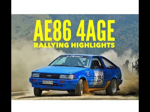 Toyota AE86 Levin Rallying Highlights