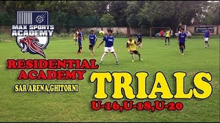 MAX SPORTS RESIDENTIAL ACADEMY TRIALS(UNDER-16,18,20)BY ZIDOC FC