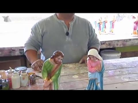 Nacimientos artesanales elaborados en Puebla