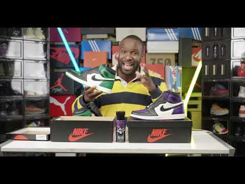 Unboxing Jordan 1 'Court Purple' & 'Pine Green' - Pree Da Ting
