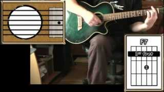 Hey Jude - The Beatles - Acoustic Guitar Lesson Detune By 1 Fret