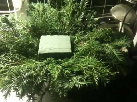 weihnachtsgesteck selber machen eine anleitung youtube. Black Bedroom Furniture Sets. Home Design Ideas