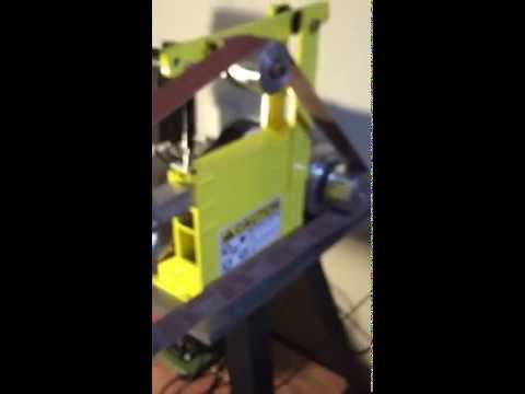 New 2x72 knife making belt grinder review of OregonBladeMaker grinder