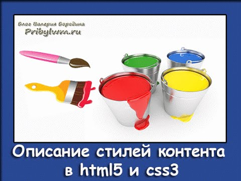 Описание стилей контента в html5 и css3 (Урок 5)