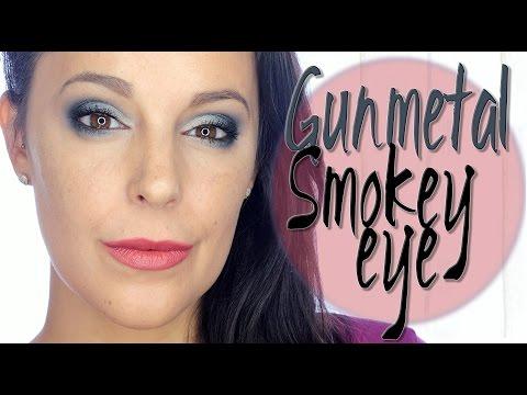 GunMetal Smokey eye makeup   Silvia Quiros