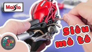 Lắp ráp siêu xe Ducati Monster, bộ sưu tập xe Maisto ToyStation 288