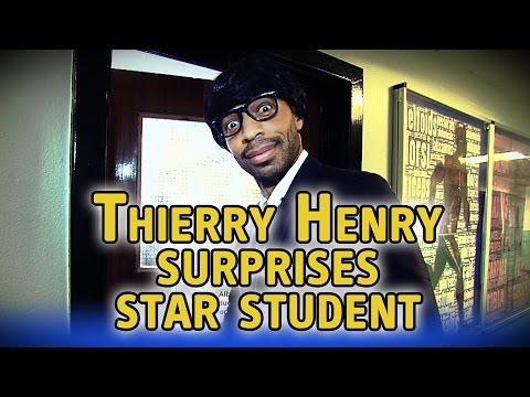 Thierry Henry disguises himself as teacher to surprise student