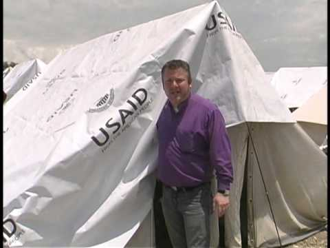 Bishop David Huskins at unoccupied usaid tents in Port Au Prince, Haiti 2