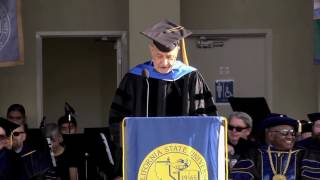 Stephen Schilling gives 2016 CSUB Commencement address.