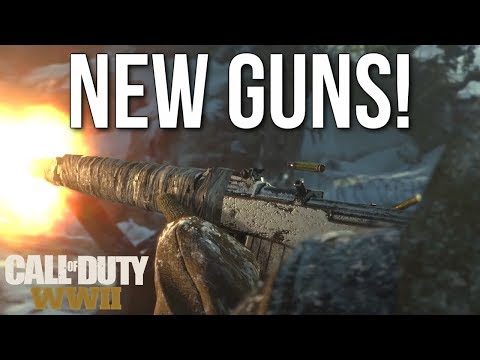 New Guns: Sten, Gewehr 43, GPMG LMG, Ice Pick! (Call of Duty: WW2 Gameplay Stream)