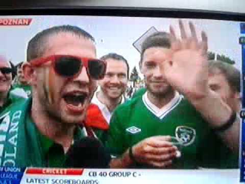 Ireland fan sounding rough on sky sports