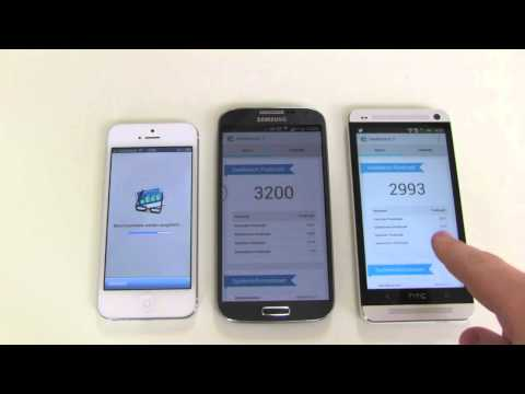Samsung Galaxy S4, HTC One und iPhone 5 im Benchmark Test