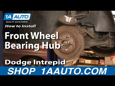 How To Install Repair Remove Front Wheel Bearing Hub Dodge Intrepid 93-04 1AAuto