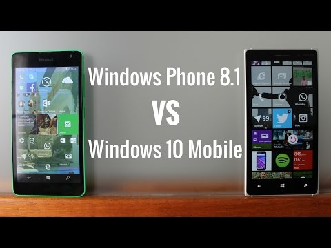 Windows Phone 8.1 frente a Windows 10 Mobile. en español