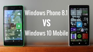 Windows Phone 8.1 frente a Windows 10 Mobile, en español