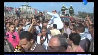 جنازة مهيبة لشهيد قطار منوف من الشرطة  وأهالى المنوفية يصرخون يالله تاخد مرسى واللى معاه