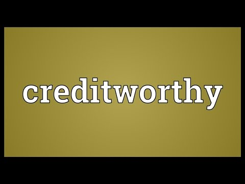 Header of creditworthy