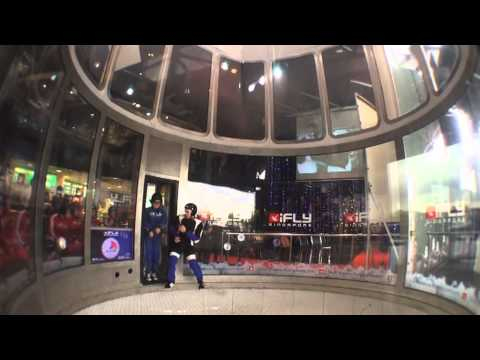 iFly Singapore Christmas Party (4th December 2013) - Media Flight Experience