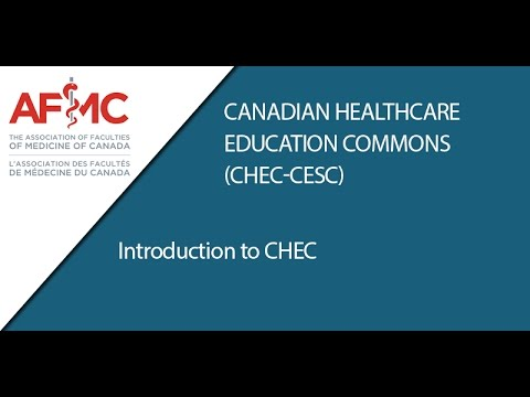 Introduction to CHEC; Canadian Healthcare Educations Commons