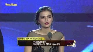 "2013 Asia Model Awards ""Indonesia Model Star Award"" J-Ryon, Firrina Sinatrya"