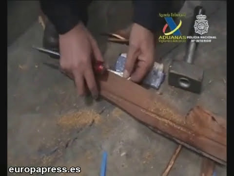 Cocaina incrustada en tablas de madera