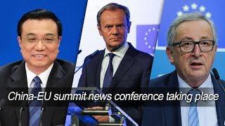 Live: China-EU summit news conference taking place 李克强同欧洲理事会主席、欧盟委员会主席举行发布会