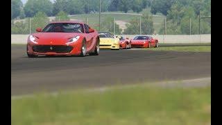 Battle Ferrari 812 Superfast vs Others Ferrari's at Mugello