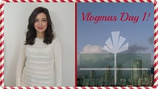 Come Work with Me and Granville Island Xmas Shopping!  #Vlogmas Day 1