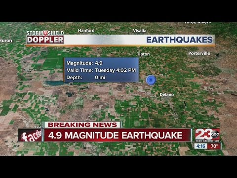 4.9 magnitude earthquake hits 3 miles south of Wasco