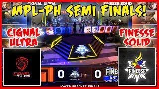 Lupet! Tinapos ng maaga! Cignal Ultra vs Finesse Solid | MPL PH Season 2 Semifinals