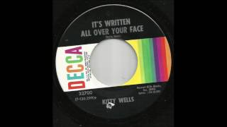 Watch Kitty Wells Its Written All Over Your Face video