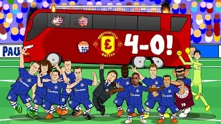 4-0! THE BUS IS BACK IN TOWN! (Chelsea vs Man Utd 2016 Parody goals & highlights)