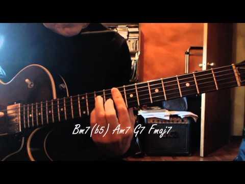 Jazz Guitar - White Christmas - Chord Melody - Chords