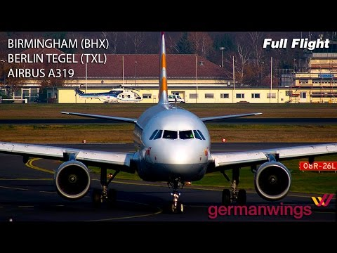 Germanwings Full Flight - Birmingham to Berlin Tegel
