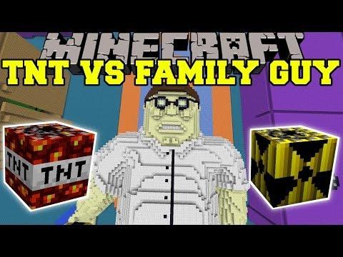 TOO MUCH TNT MOD VS FAMILY GUY - Minecraft Mods Vs Maps (SO MANY EXPLOSIONS!)